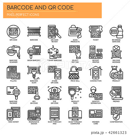 Barcode and QR Code ,  Pixel Perfect Icons 42661323