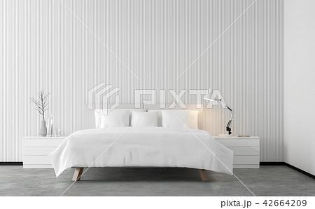 Minimal style bedroom 3d render 42664209