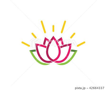 lotus flowers design logo template iconのイラスト素材 42664337 pixta