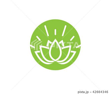 lotus flowers design logo template iconのイラスト素材 42664346 pixta