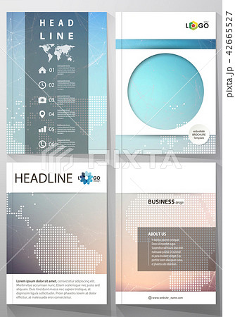 the vector illustration of editable layout of four a4 format covers