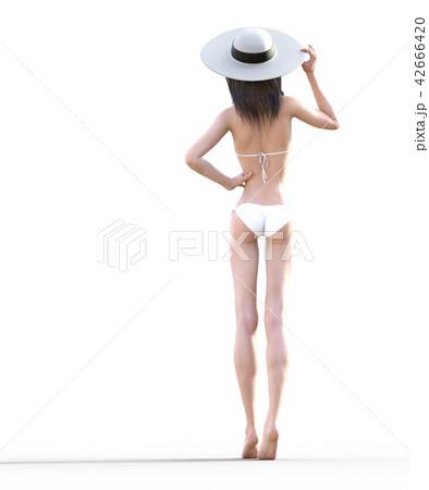 水着の女性 ビューティーイメージ perming3DCGイラスト素材 42666420