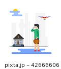 ビジネス 女性 ウォーキングのイラスト 42666606