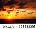 海 夕日 夕焼けの写真 42668866