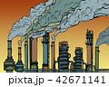 工場 製造所 煙のイラスト 42671141