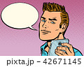 man selfie smartphone, says 42671145