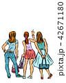 コミック ポップ 女性のイラスト 42671180