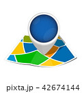 ベクター 地図 pinのイラスト 42674144