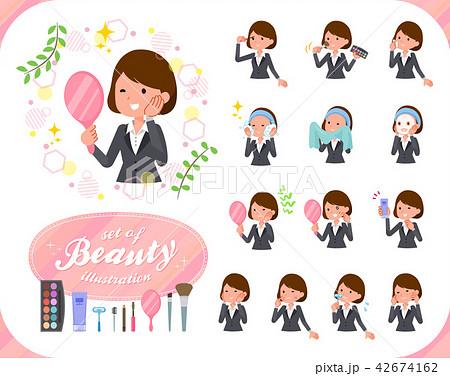 flat type Gray suit business women_beauty 42674162