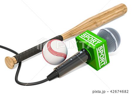 Baseball News concept. Microphone sport news 42674682