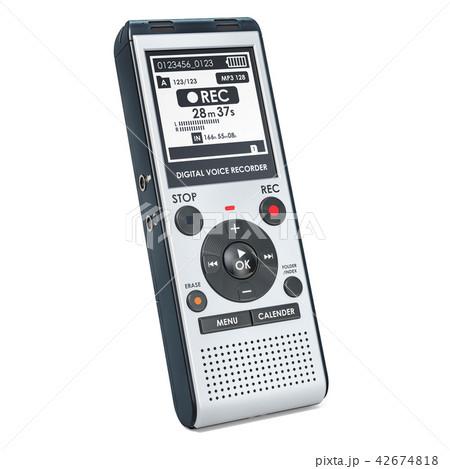 Digital voice recorder, dictaphone. 3D rendering 42674818