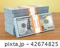 ドル お金 立体のイラスト 42674825