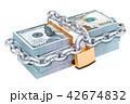 ドル 南京錠 立体のイラスト 42674832