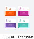 インフォグラフィック ベクタ ベクターのイラスト 42674906