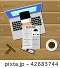 オンライン コンピュータ 雇用のイラスト 42683744
