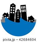 洪水 水害 家のイラスト 42684604