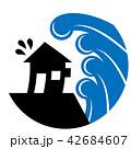 津波 水害 家のイラスト 42684607