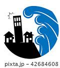 津波 水害 家のイラスト 42684608