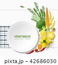 ベジタブル 野菜 爽やかなのイラスト 42686030