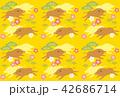 ベクター 亥 年賀状素材のイラスト 42686714