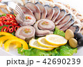 fish with vegetables,anion red pepper 42690239