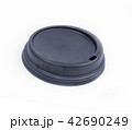 coffee lid isolate inside place with text 42690249