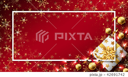Christmas luxury background with gift box 42691742