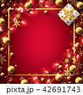 Red Christmas background 42691743