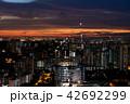 シンガポール中心地の夕暮れ 42692299