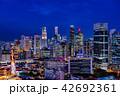 シンガポールの摩天楼の夕景 42692361