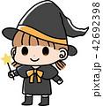 ハロウィン 仮装 女の子のイラスト 42692398