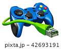 ゲームパッド ジョイスティック ジョイパッドのイラスト 42693191