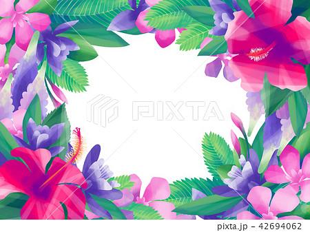 Gouache exotic floral design 42694062