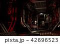 荒れた宇宙船内 42696523