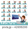 flat type Gray suit business women_desk work 42699200