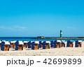 ビーチ 浜辺 防波堤の写真 42699899