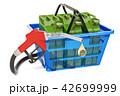 ノズル 買い物カゴ ガソリンのイラスト 42699999