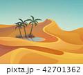 ヤシ 砂漠 景色のイラスト 42701362