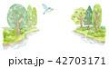 湖と青い鳥 42703171