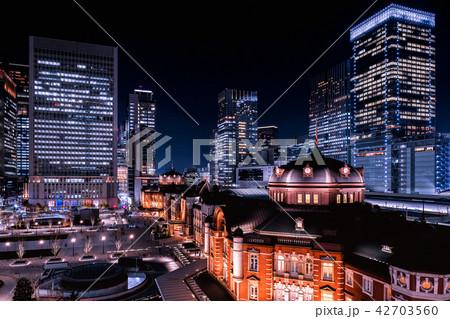 東京駅(夜景) 42703560