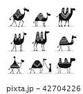 らくだ ラクダ 駱駝のイラスト 42704226