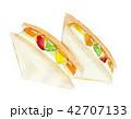 フルーツサンド サンドイッチ 料理のイラスト 42707133