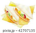 フルーツサンド サンドイッチ 料理のイラスト 42707135