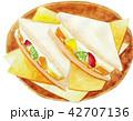 フルーツサンド サンドイッチ 料理のイラスト 42707136