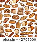 パン ブレッド パターンのイラスト 42709000