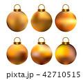 ボール 玉 クリスマスのイラスト 42710515