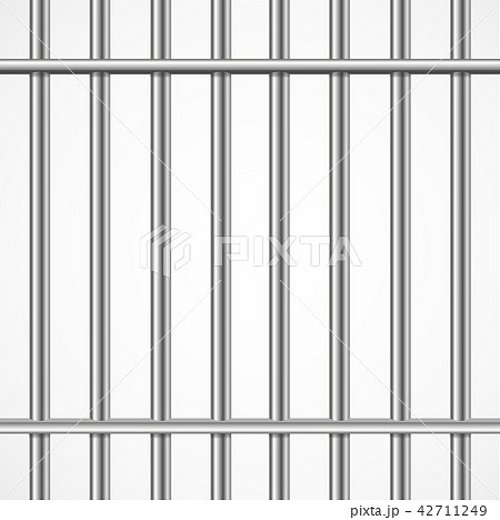 Realistic Detailed 3d Prison Cage Metal Concept Card Background. Vector 42711249