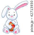 動物 うさぎ イースターのイラスト 42713930