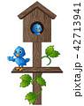 鳥 郵便 ポストのイラスト 42713941