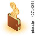 ビットコイン お財布 サイフのイラスト 42714254